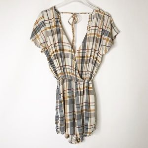 Gillia Hawaii Plaid Romper